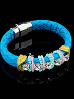 Женский браслет голубого цвета