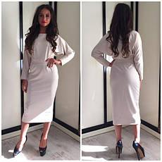 Осеннее платье ниже колен 3 цвета, фото 2