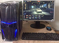 "Компьютер на  Intel Core i5-2300 (4 ядра 3.1 GHz) / 6GB DDR3 / 500GB HDD / GeForce GT 1030 2GB GDDR5 + Монитор / 22"" / 1680x1050"