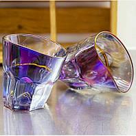Набор пьяных стаканов для виски голографические  260 мл  6шт ND002