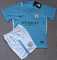 Детская игровая форма Nike FC Manchester City 2017-18