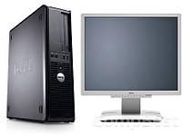 Dell Optiplex 755 SFF / Intel Core 2 Quad Q6600 (4 ядра по 2.4GHz) / 6GB RAM / 250GB HDD / Radeon HD 7570 1GB GDDR5 + монитор Fujitsu B19-6 / 19' /