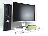"""Dell OptiPlex 755 sff / Intel Core 2 Quad Q9400 (4 ядра по 2.66GHz) / 4GB RAM / 250GB HDD + монитор Dell UltraSharp 2007 FP / 20"""" / 1600x1200"""