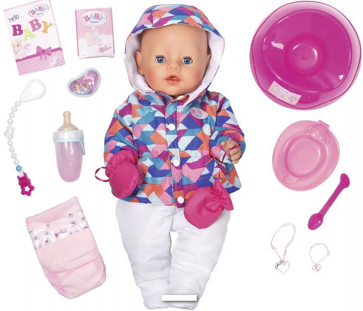 Кукла пупс Baby Born Беби Борн Зимняя красавица  Exklusiv Babypupp Zapf Creation 823200