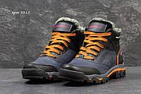 Мужские кожаные зимние ботинки 3315 Merrell темно синие
