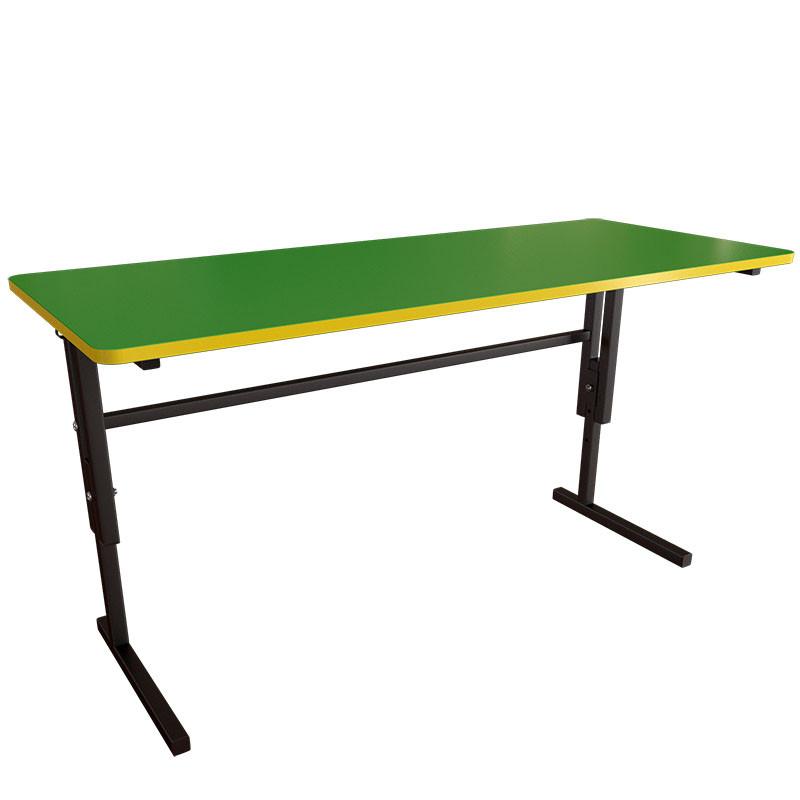 Дитячий стіл двомісний регульований по висоті на металевому каркасі