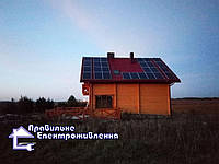 Гібридна сонячна електростація 12 кВт с. Басівка