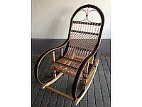 """Кресло-качалка из лозы """"Ротанг"""" коричневая"""
