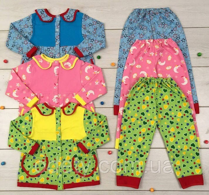 8b64659a9c9ea Теплая пижама Илона для девочки. Детская пижама с начесом. Пижама детская с  начесом.