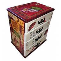 Шкатулка-комод Китайский орнамент (22x15x26 см)