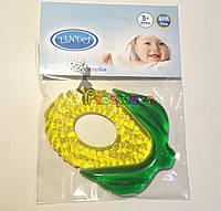 """Латексный прорезыватель зубов с водой (грызун) Lindo """"Кукурузка"""", фото 1"""