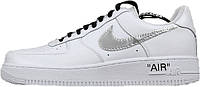 Женские кроссовки OFF-WHITE x Nike Air Force 1 Low White/Metallic