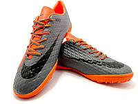 Футбольные сороконожки Nike HyperVenom Phelon III TF Hyper Orange/Black/Chrome, фото 1