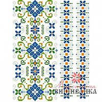 """Схема для вышиванки на водорастворимом флизелине """"Квітковий тандем"""" СФФ-06"""