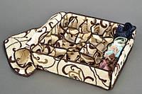 Органайзер для белья с крышкой 24 отделения Песочный