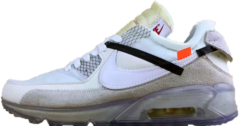 size 40 d6f55 d33a0 Мужские кроссовки OFF-WHITE x Nike Air Max 90 Ice 10X Grey Beige -