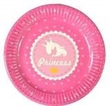 18 см 10 шт./упак. Набор тарелок Принцессы бумажные розовый