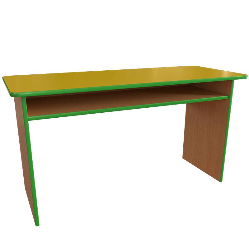 Детский стол двухместный с полкой из ДСП от производителя