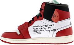 Женские баскетбольные кроссовки Air Jordan 1 Off White Red/White
