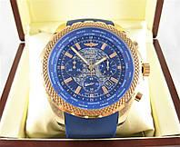 Часы Breitling for Bentley Transocean 52mm Chronograph Gold/Blue. Реплика: AAA, фото 1