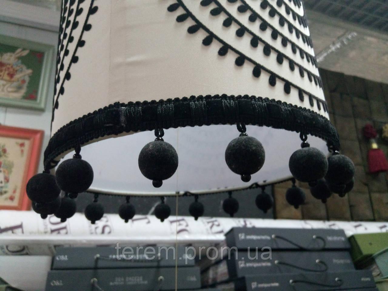 Світильник Підвісний кола з бахромою