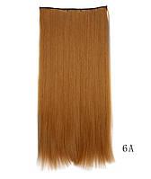 Накладные волосы на клипсах,шиньон,трессы 60 см цвет рыжий