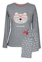 Уютная женская пижама MuzzyПіжама Muzzy Ведмідь в очках