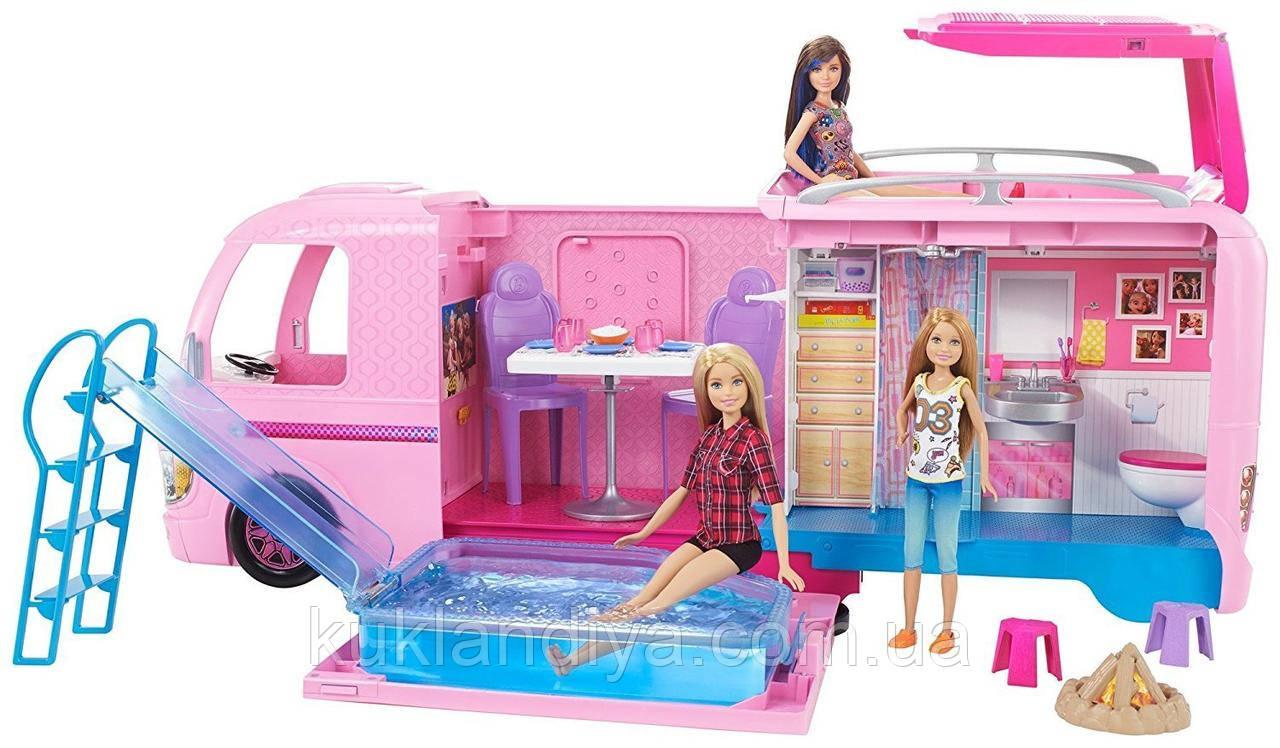 Кемпер трейлер мечты для путешествий Barbie