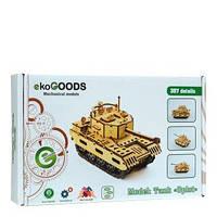 Деревянный 3D-пазл ekoGOODS Танк