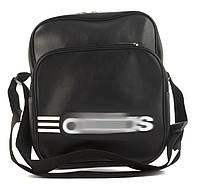 Качественная прочная мужская сумка почтальонка с искусственной кожи art.  36 (101363) черный