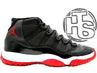 Мужские кроссовки Air Jordan 11 XI Black/Red/White 378037-010