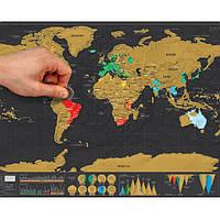 Карта мира, на которой можно отмечать свои путешествия!