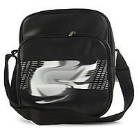 Качественная прочная мужская сумка почтальонка с искусственной кожи art.  36 (101362) черный