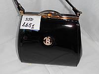 Женский клатч вечерний лаковый праздничный со стразами жемчужный  сумка вечерняя (21*19 см)