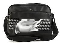 Качественная прочная мужская сумка почтальонка с искусственной кожи art.  38 (101364) черный