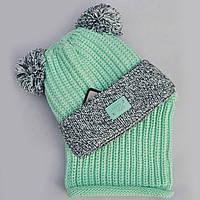 Зимний комлект (шапка и хомут) для девочки Grans (Польша)., фото 1