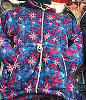 Детская зимняя куртка для девочки  оптом на 6-10 лет