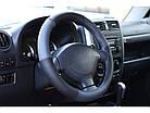 Оплетка на руль на Део Ланос из натуральной кожи , фото 4