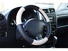 Оплетка на руль на Део Ланос из натуральной кожи , фото 6