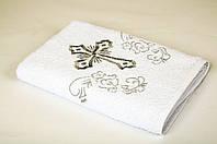 Крыжма Lotus вышивка - Белое с серебром 70*140 (16/1) 400гр
