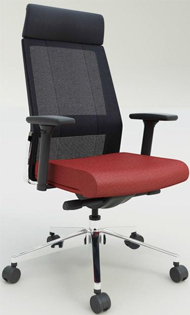 Кресло офисное с подголовником Enrandnepr ЭНДИКО черный