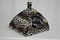 Домик для собак и кошек  юрта Леопард 460*460*400