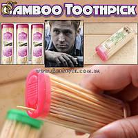 """Бамбуковые зубочистки - """"Bamboo Toothpick"""" - 3 комплекта (150 штук)"""