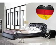 Кровать кожаная двуспальная Соната