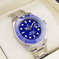 Известные брендовые мужские часы ROLEX SUBMARINER SILVER. Супер дизайн. Отличное качество. Дешево  Код: КГ2072
