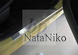 Защитные хром накладки на пороги Peugeot 107 5D (пежо 107 5 дверей 2005+), фото 2
