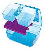 Емкость для завтрака детская 1,3л с двухсек.лотком и охлажд.элементом BRQ