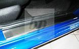 Защитные хром накладки на пороги Peugeot 206+ 5D (пежо 206+ 5 дверей 2009г+), фото 2