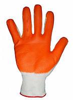 Перчатка Рабочая Стрейч нейлоновые с нитриловым покрытием оранжевые