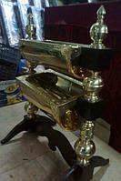 Двойная огарочница из нитрид титана (булат)
